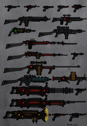 Tenebrean Weapons. Firearms Sheet by Athalai-Haust