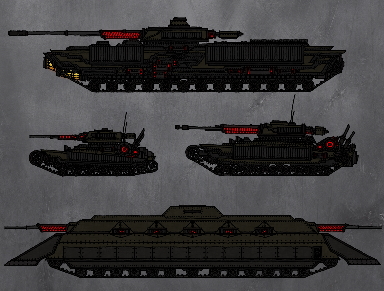 Tenebrean Tanks No. 1 by TenebraesRising