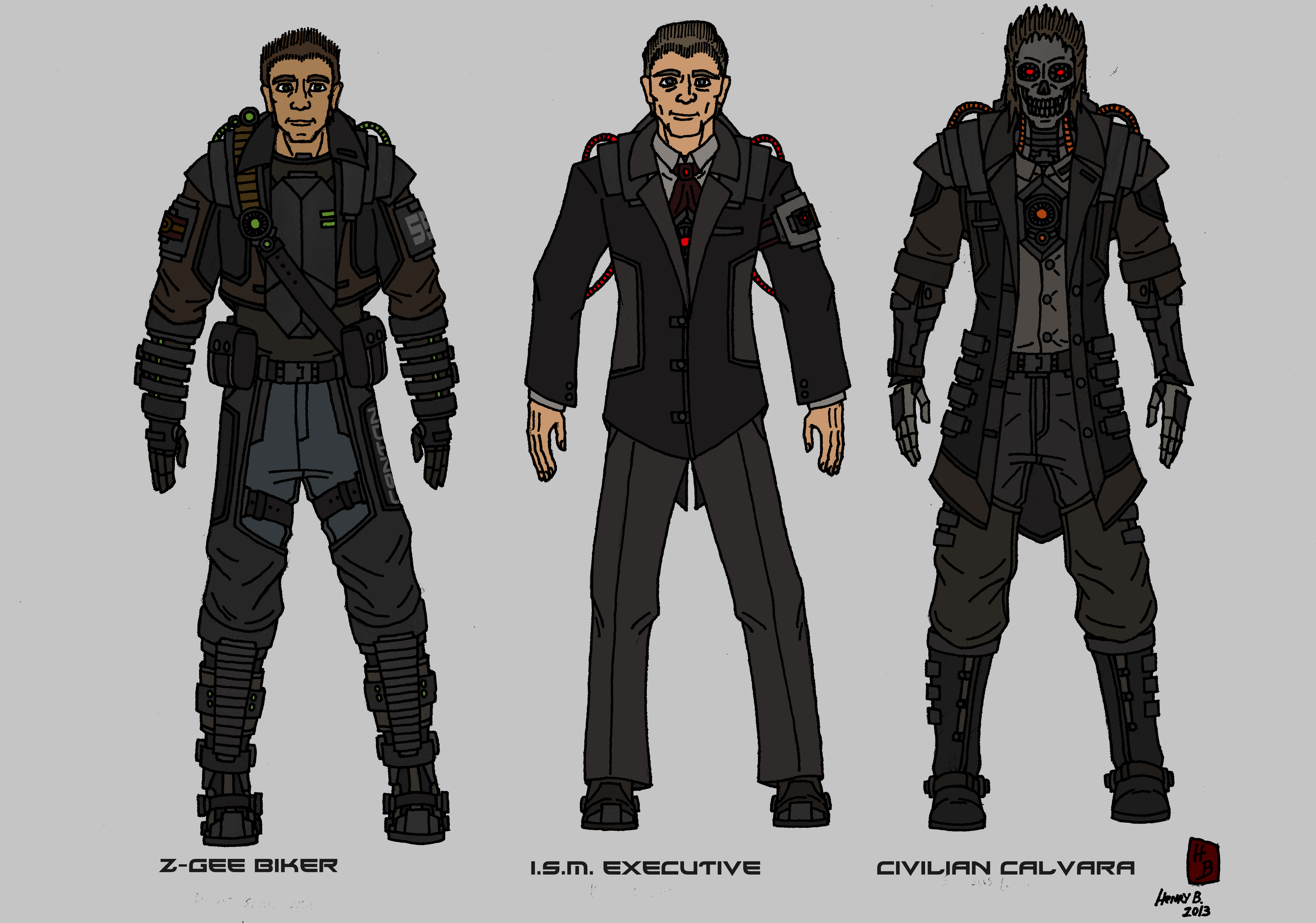 Tenebrean Civilian concepts by Athalai-Haust