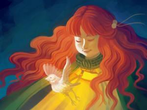 A Goddess and Her Bird (REDUX)