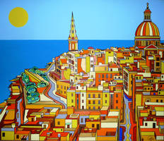 Valletta from Paul' s office by Evilpainter