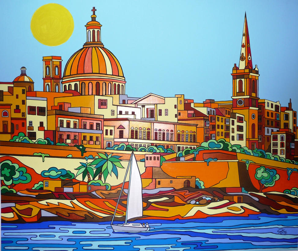 Entrance to Valletta by Evilpainter