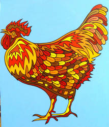 NICE BIG COLORFUL COCK by Evilpainter