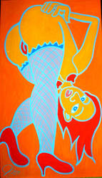 orange chick by Evilpainter