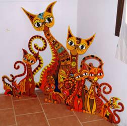 Katzenfamilie by Evilpainter