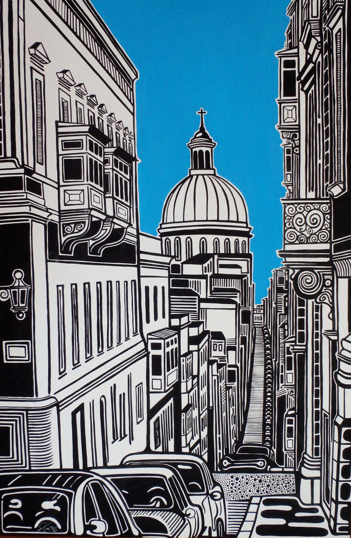 St.Pauls in Valletta by Evilpainter