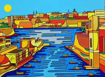 View over Kalkara Greek by Evilpainter