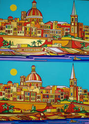 Valletta x 2 by Evilpainter