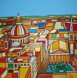 Birdseye view Valletta by Evilpainter
