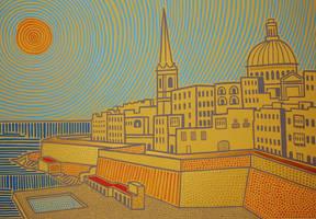 Valletta 100 x 70 cm - in yellow
