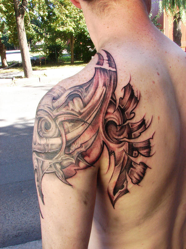 bio add - shoulder tattoo