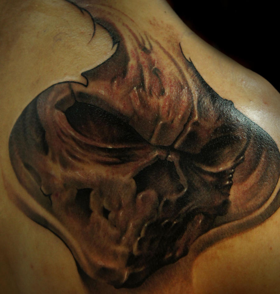 Skull 1st session by strangeris