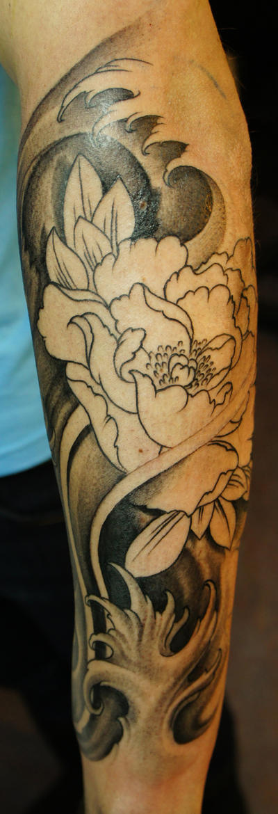 Japanese sleeve in progress by strangeris