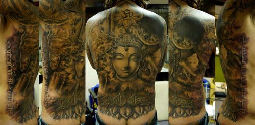 India backpiece finished
