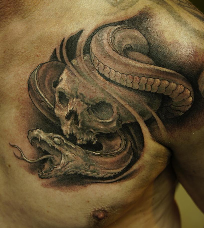 skull snake by strangeris