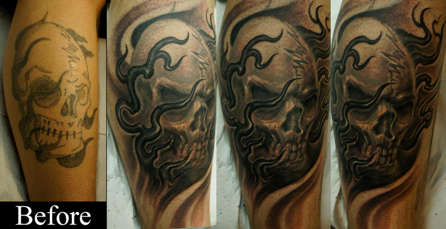Skull cover-up by strangeris