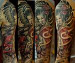 Geisha sleeve progress