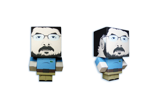My father papertoy by craniodsgn