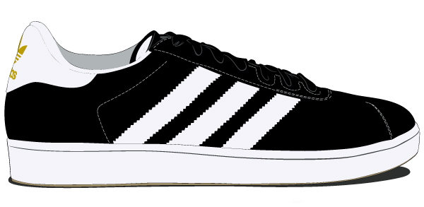 adidas shoes vector