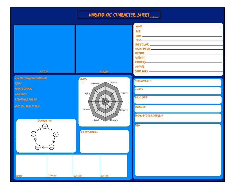 Naruto Character Design Sheet : Naruto oc character sheet by dmnq on deviantart