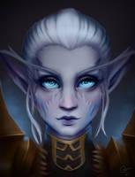 Night elf portrait by CoffehMeh