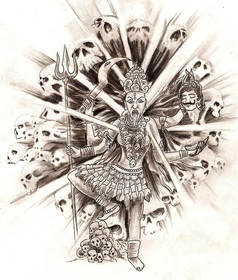 Kali Sketch By SimplyTattoo On DeviantArt