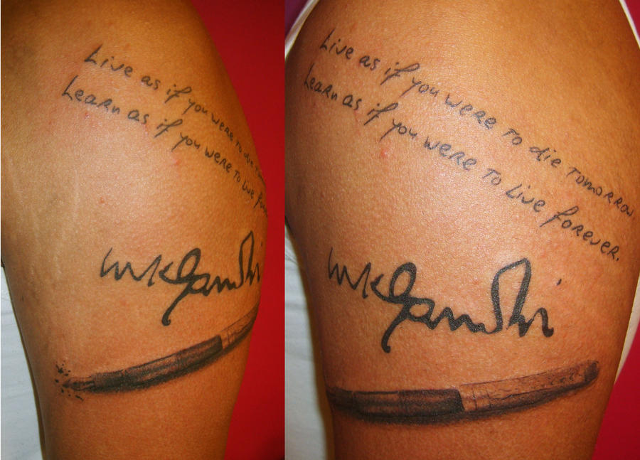 Gandhi text by SimplyTattoo