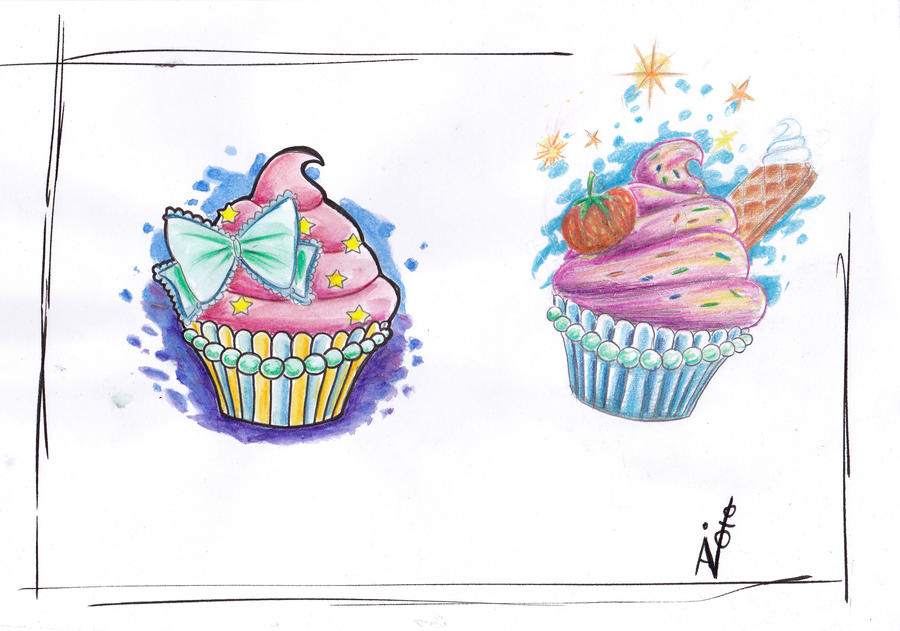 cupcakes by SimplyTattoo on DeviantArt