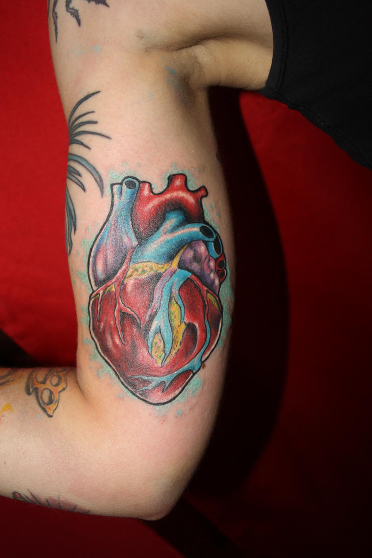 Colourful heart by SimplyTattoo