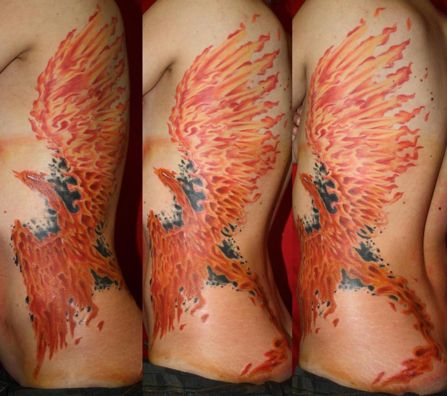 rib phoenix by SimplyTattoo