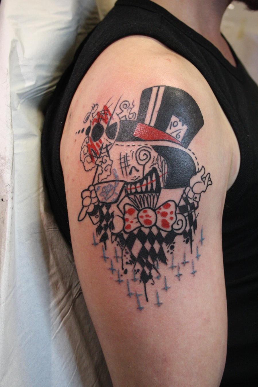 mad hatter tattoos - photo #20
