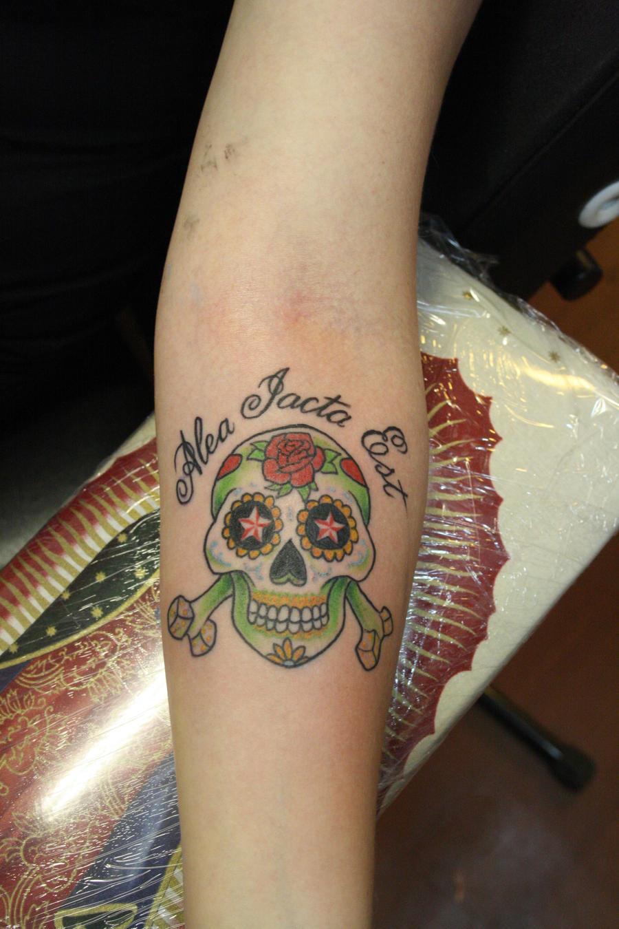 alea iacta est skull by ~SimplyTattoo on deviantART