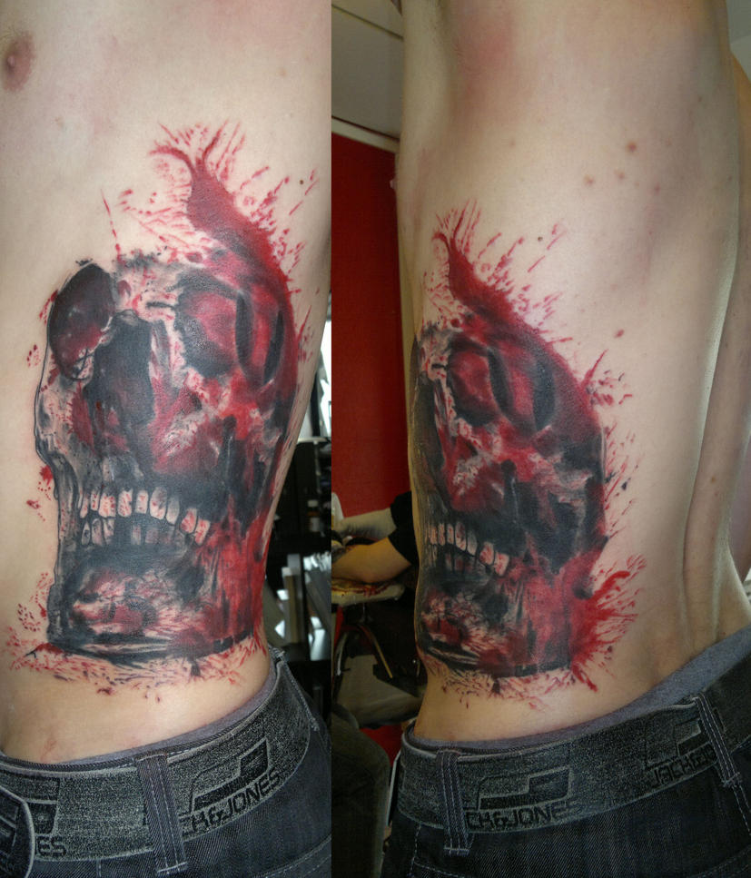 Rib Skull by SimplyTattoo