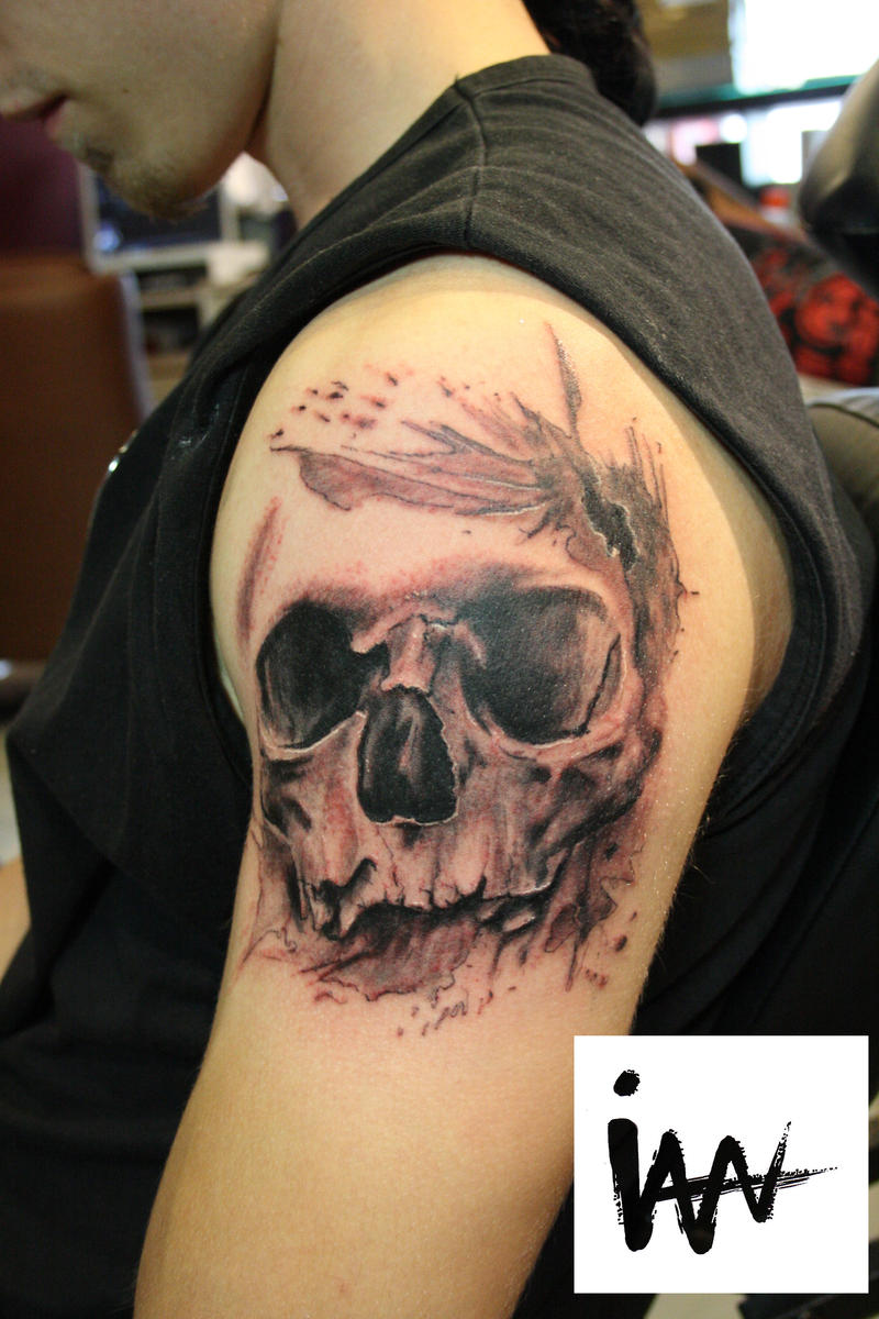 another skull by SimplyTattoo