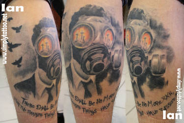 gas mask - healed by SimplyTattoo