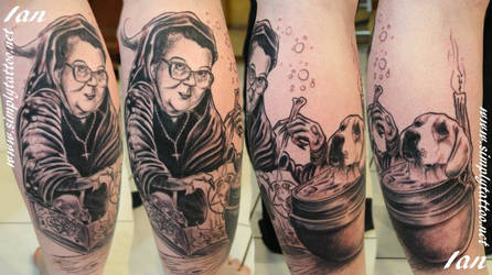 grandmother likes her dog by SimplyTattoo