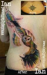 owl cover-up by SimplyTattoo