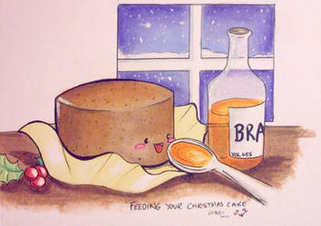 Feeding Your Christmas Cake by forestfruits1