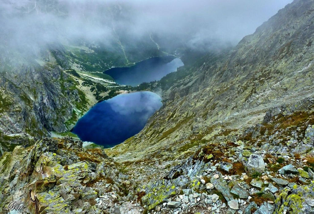 Mountains - Two ponds - Tatry by miirex