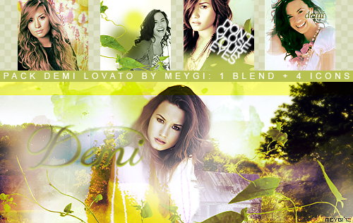 Pack Demi Lovato by meygidesigns