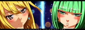 Fairy tail 468 - Lucy And Brandish by DesignerRenan