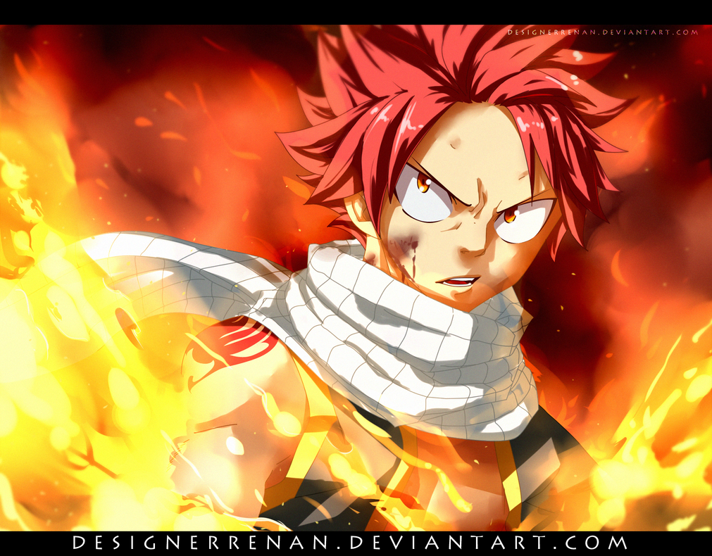 Fairy Tail 477 - Natsu was burning! by DesignerRenan