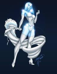 Emma Frost Diamond Form by krissthebliss