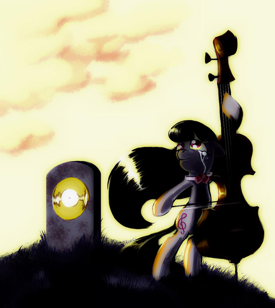 Sad Octavia - Sunset by Kaidrin1 on DeviantArt