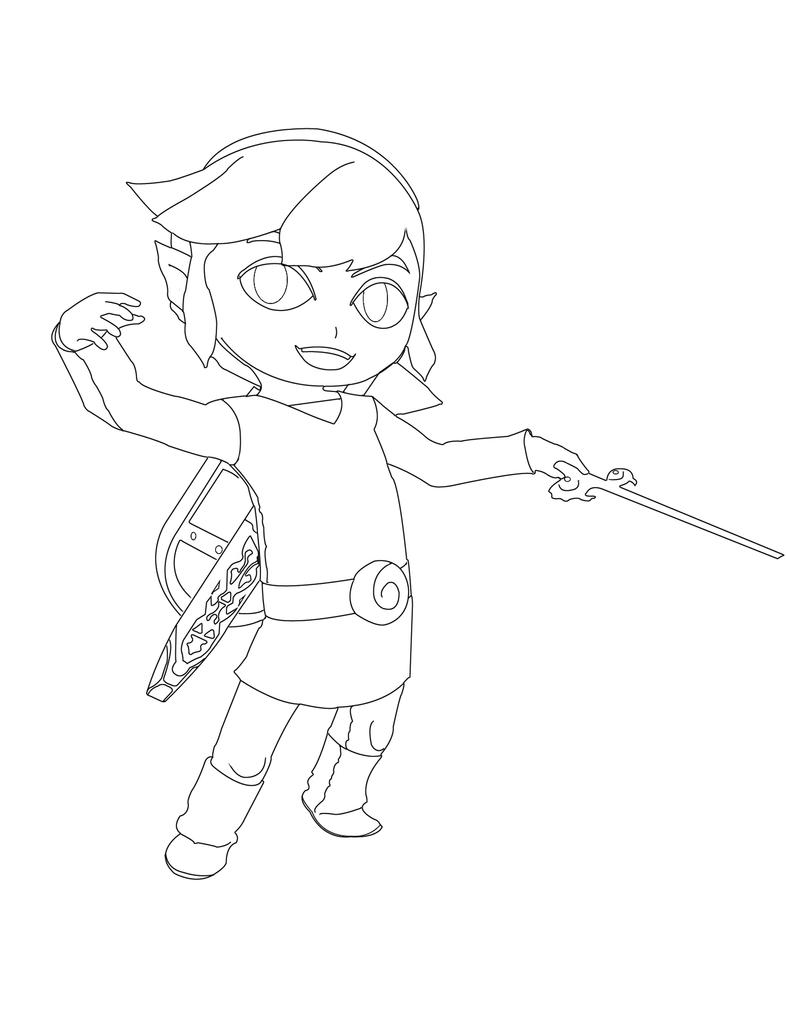 toon link coloring pages - photo#8