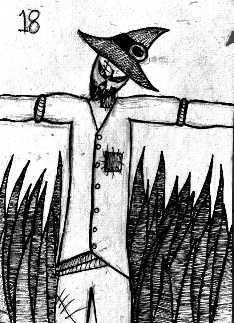 Inktober day 18 : Scarecrow by georgiaXpaige
