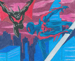 Batman Beyond Vs Spider-Man 2099 by Bluexorcist93