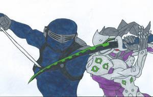 Snake Eyes Vs Genji by Bluexorcist93