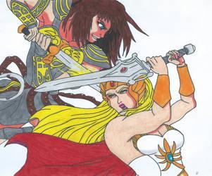 She-Ra Vs Xena by Bluexorcist93