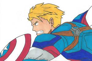 Captain America by Bluexorcist93